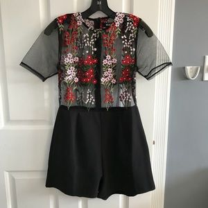 ASOS Missguided embroidered romper